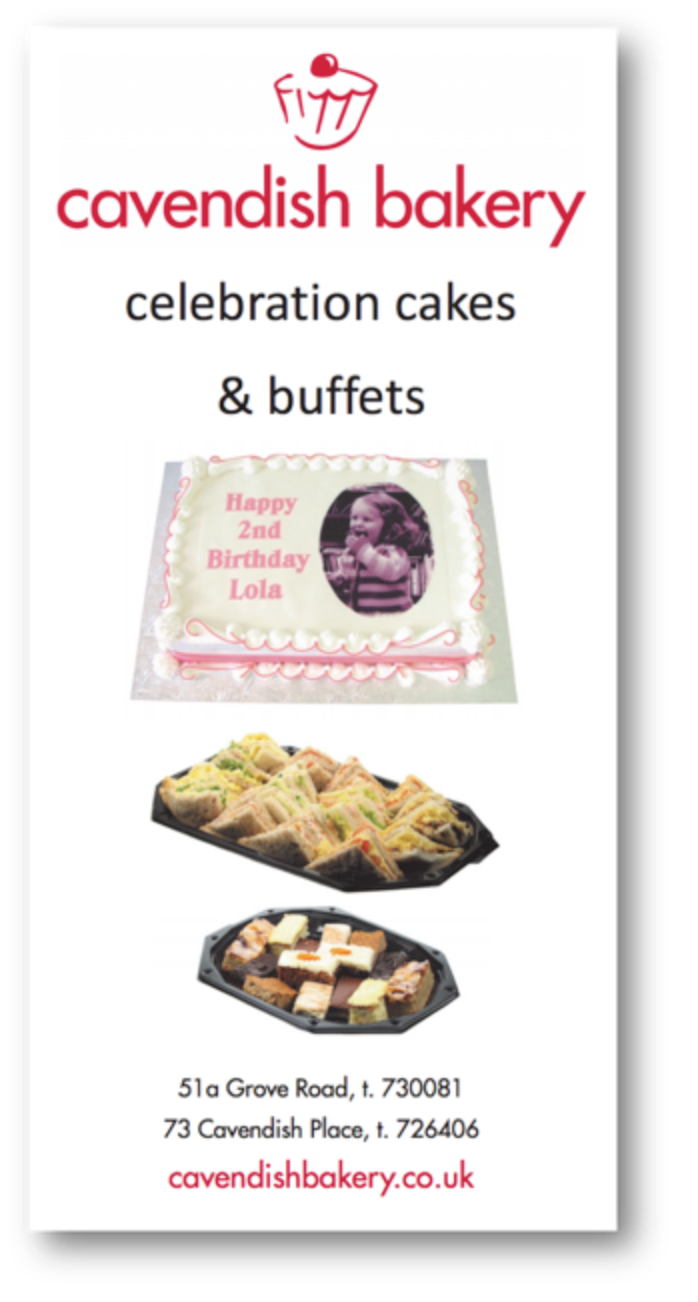 Buffet and Cake Leaflet